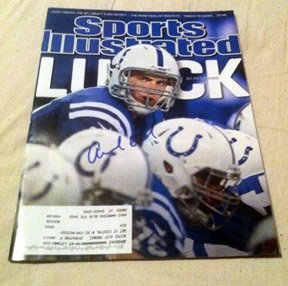 ADRIAN PETERSON  vikings  AUTOGRAPHED  signed  MAGAZINE  !