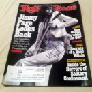 LED ZEPELIN  jimmy page  AUTOGRAPHED  signed  ROCK Magazine  !