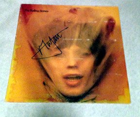 """MICK JAGGER  rolling stones  AUTOGRAPHED s igned  """"ANGIE""""  Record  w/proof"""