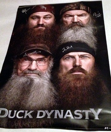 DUCK DYNASTY  cast AUTOGRAPHED signed  POSTER