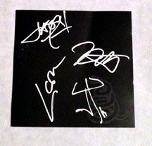 """METALLICA  signed  AUTOGRAPHED """" Black"""" Cd COVER"""