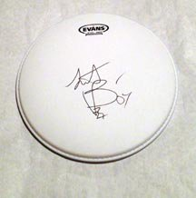 CHARLIE WATTS  rolling stones  AUTOGRAPHED signed  DRUMHEAD