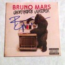 BRUNO MARS  signed  AUTOGRAPHED new Cd COVER