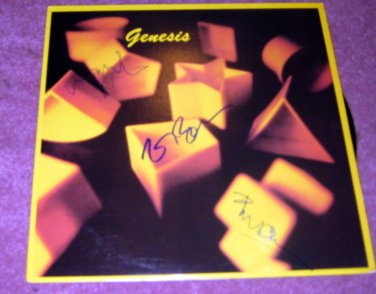 GENISES      phil collins + 2       autographed   SIGNED  #1   RECORD     album     * Proof