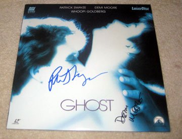PATRICK SWAYZE & DEMI MOORE    Autographed   SIGNED   Ghost    RECORD     album     * Proof