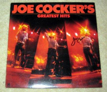 JOE COCKER     autographed   SIGNED  #1   RECORD     album     * Proof