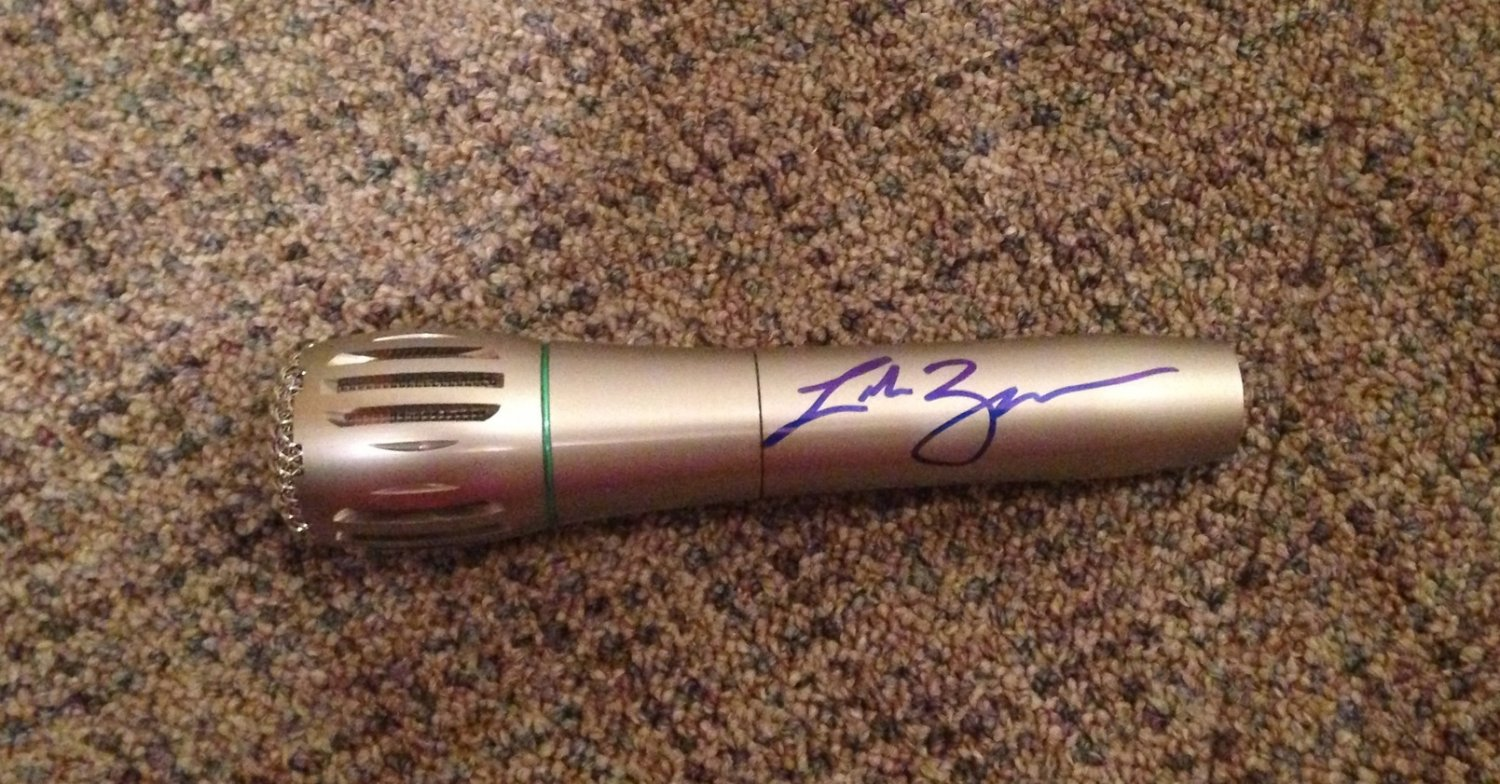 LUKE BRYAN  country star  AUTOGRAPHED signed  MICROPHONE