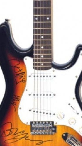 COLDPLAY signed AUTOGRAPHED new GUITAR