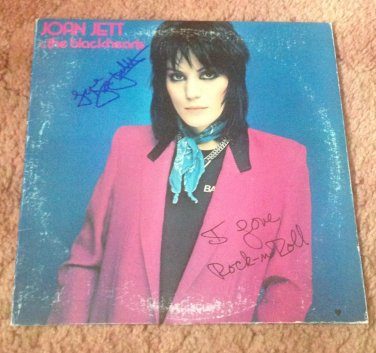 JOAN JETT   autographed Signed #1 RECORD vinyl