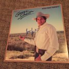 "GEORGE STRAIT autographed SIGNED "" ocean front property "" RECORD vinyl"