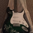 GREEN DAY signed AUTOGRAPHED green FULL size GUITAR