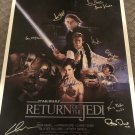 RETURN OF THE JEDI cast STAR WARS signed AUTOGRAPHED full size POSTER