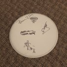 THE ROLLING STONES signed AUTOGRAPHED full size DRUMHEAD