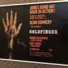 """SEAN CONNERY James Bond AUTOGRAPHED signed """" GOLDFINGER """" full size POSTER"""