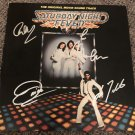BEE GEES signed AUTOGRAPHED Saturday Night Fever RECORD vinyl  * w/ John Travolta