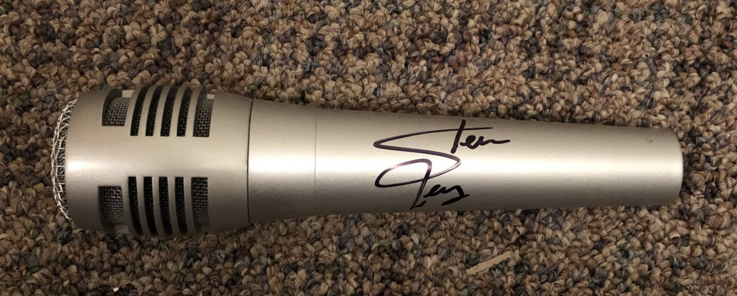 STEVE PERRY journey AUTOGRAPHED signed FULL size MICROPHONE