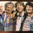 THE ROLLING STONES autographed SIGNED 8x10 PHOTO