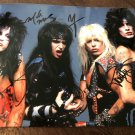 MOTLEY CRUE group SIGNED autographed 8x10 PHOTO
