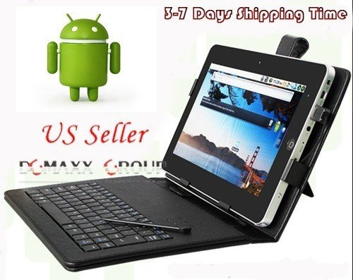 """New 10"""" Android 2.2 ePad Tablet HDMI WiFi + Case & Keyboard"""
