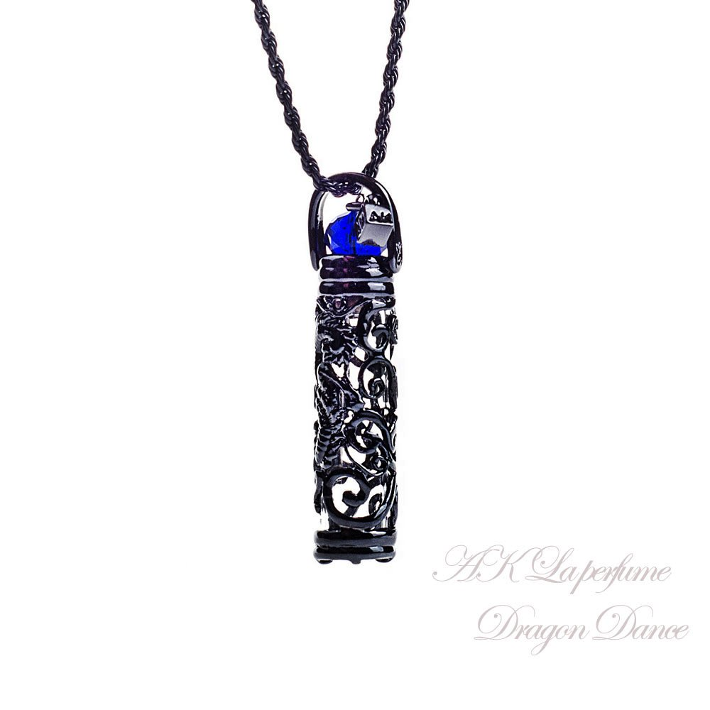 AK Fragrance essential oil bottle jewelry-Dragon Dance (blue)
