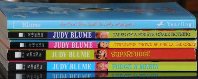 5 book set - Superfudge, Tales of a Fourth Grade Nothing, Fudge-a-Mania Judy Blume