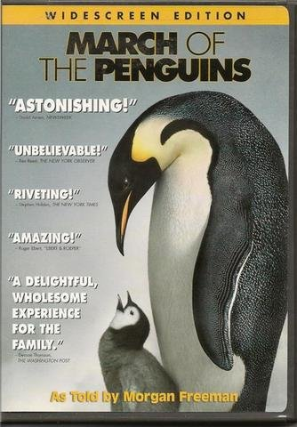 March of the Penguins DVD told by Morgan Freeman