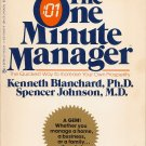 The One Minute Manager Book Kenneth Blanchard