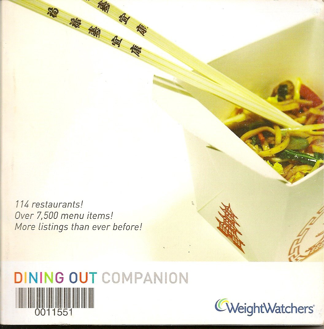 Weight Watchers Dining Out Companion 2006