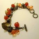 Bronze Toned Autumn Leaves Bracelet