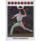 2008 Topps Chrome #10 Cole Hamels
