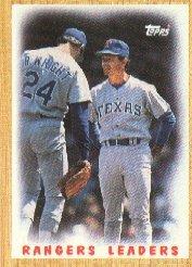 1987 Topps #656 Rangers Team