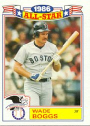 1987 Topps Glossy All-Stars #15 Wade Boggs