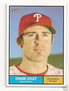 2010 Topps Heritage #179a Chase Utley
