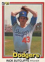 1981 Donruss #418 Rick Sutcliffe