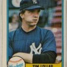 1981 Fleer #108 Tim Lollar