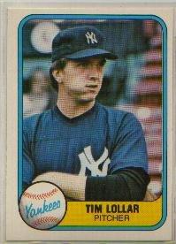 1981 Fleer #108 Tim Lollar