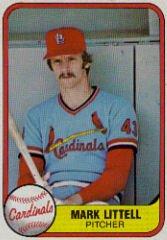 1981 Fleer #544 Mark Littell