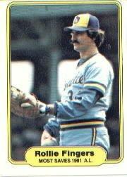 1982 Fleer #644 R.Fingers Most Saves