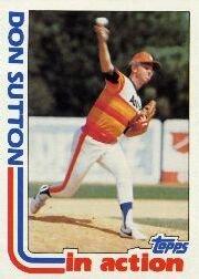1982 Topps #306 Don Sutton SA