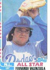 1982 Topps #345 Fernando Valenzuela AS