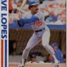 1982 Topps #741 Dave Lopes SA