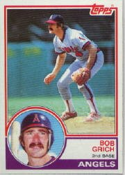 1983 Topps #387 Bob Grich
