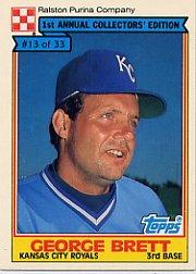 1984 Ralston Purina #13 George Brett