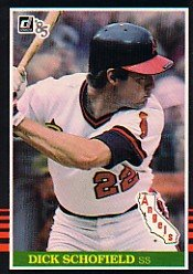 1985 Donruss #329 Dick Schofield
