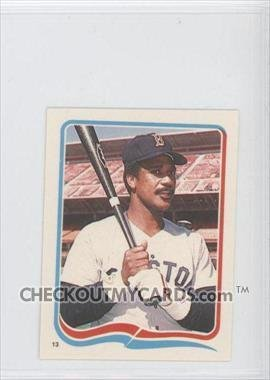 1985 Fleer Star Stickers #13 Jim Rice