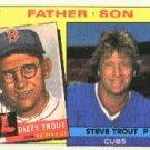 1985 Topps #142 Steve/Dizzy Trout