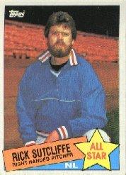1985 Topps #720 Rick Sutcliffe