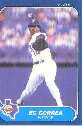 1986 Fleer Update #30 Ed Correa