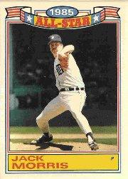 1986 Topps Glossy All-Stars #10 Jack Morris