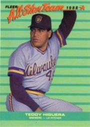 1988 Fleer All-Stars #3 Ted Higuera